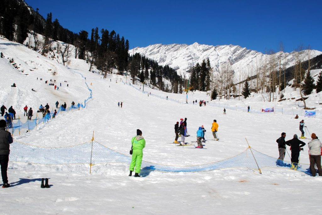 Solang Valley during winters